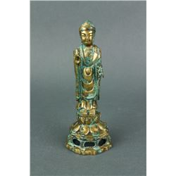 7/10th C. Korean Bronze Silla Buddha w/ Catalogue