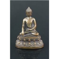 Chinese Bronze Buddha 19th C.