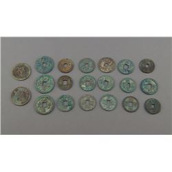 Chinese Twenty 20 Pieces of Bronze Coins