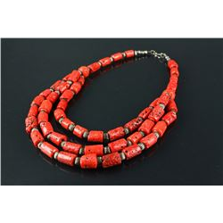 Chinese Red-Coral Necklace