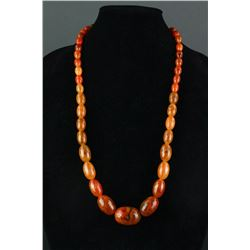 Baltic Amber Necklace Polished Oval Beads