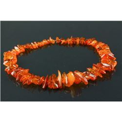 Baltic Amber Necklace Polished Assynetrical Beads
