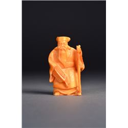 Japanese Ox Bone Carved Immortal Netsuke