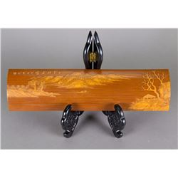 Chinese Fine Bamboo Carved Arm Rest