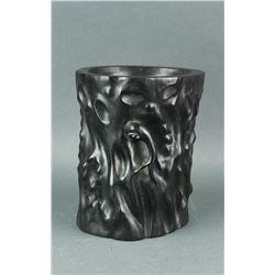 Chinese Large Zitan Brush Pot