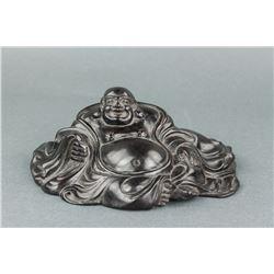 Chinese Zitan Wood Carved Buddha Figure