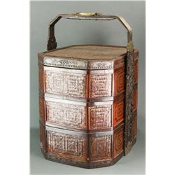 Chinese Bamboo Basket Qing Period