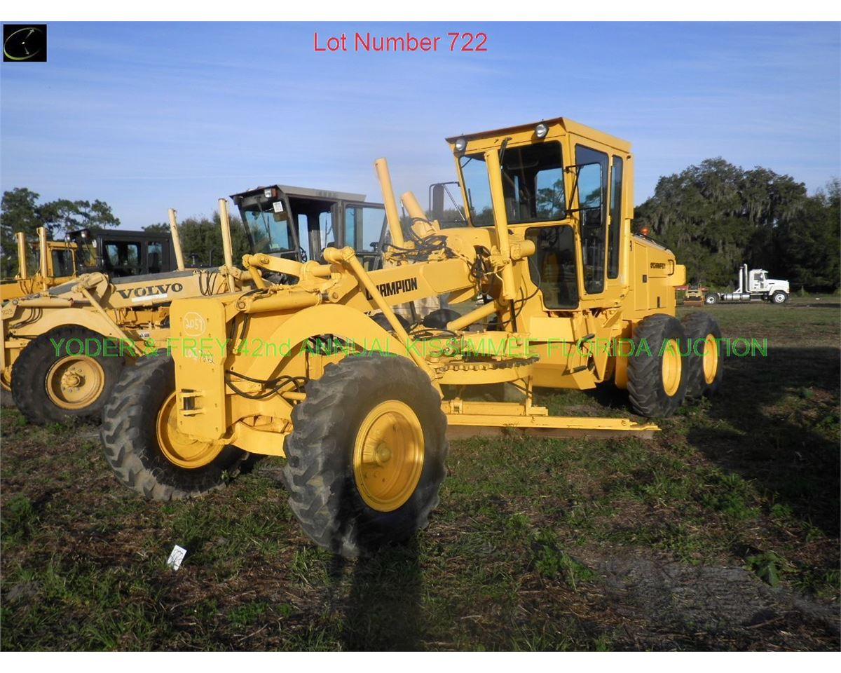 1993 Champion 710A III Motor Grader, Sn  710A157152222915, EROPS,  scarifier, ex-county owned, low hr