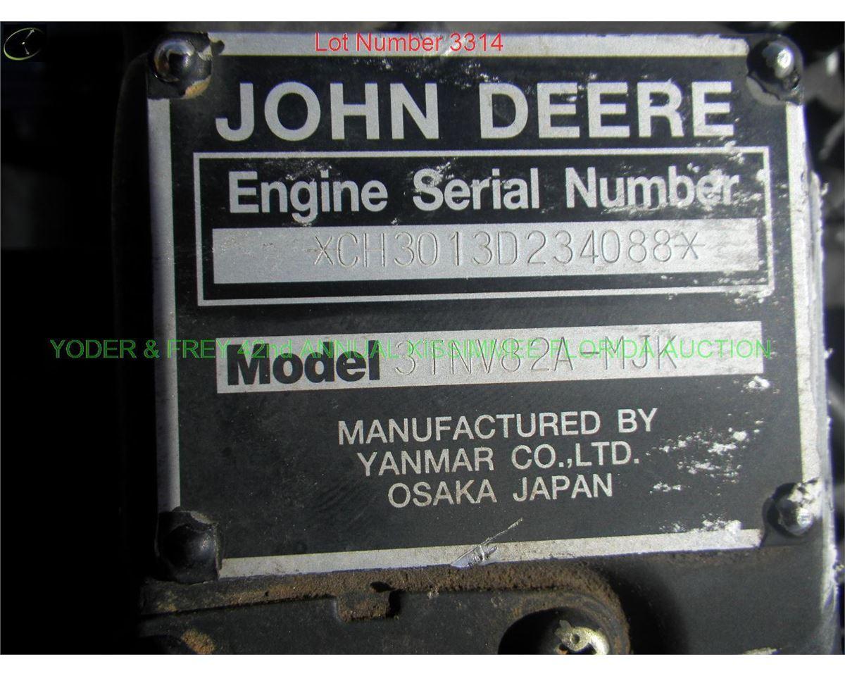 Yanmar 3TNV82 Diesel Engine, Sn  SA-234088  (9075)