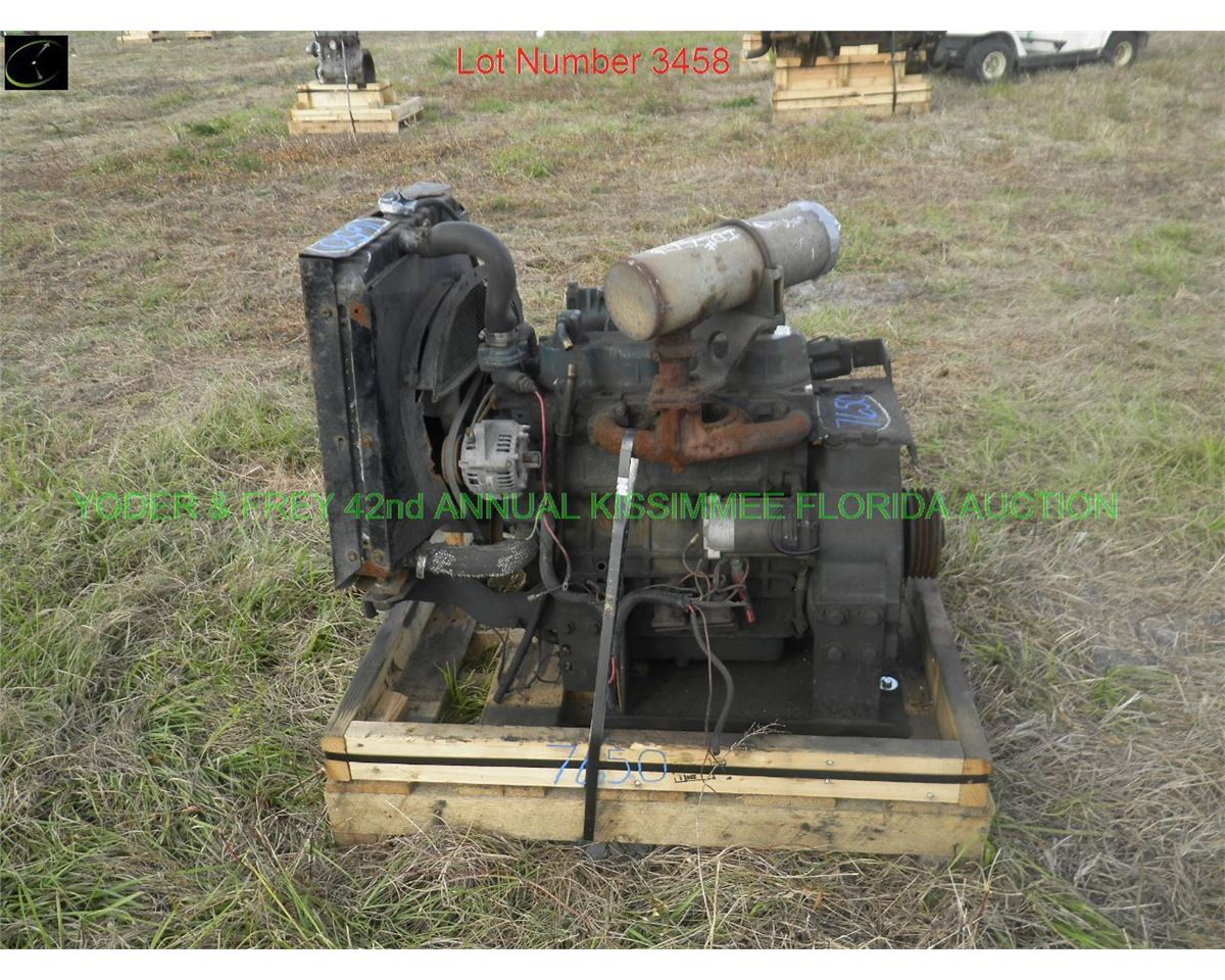 Kubota V1903 Diesel Engine, Sn  100131, complete power unit  (8001)
