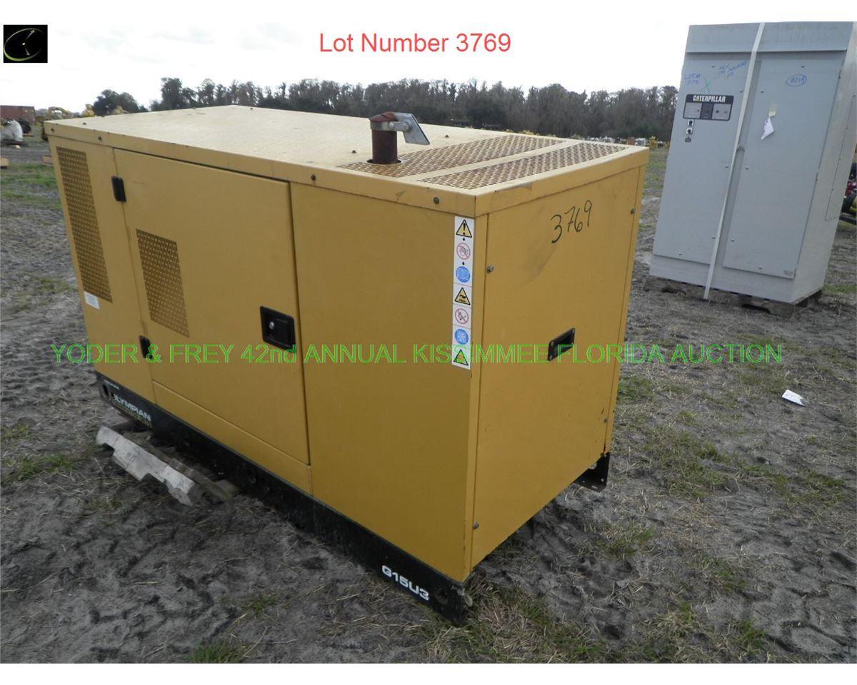 2007 Olympian G15U3 Generator, Sn  OLY00000VNGBOO297, ex-Disney owned