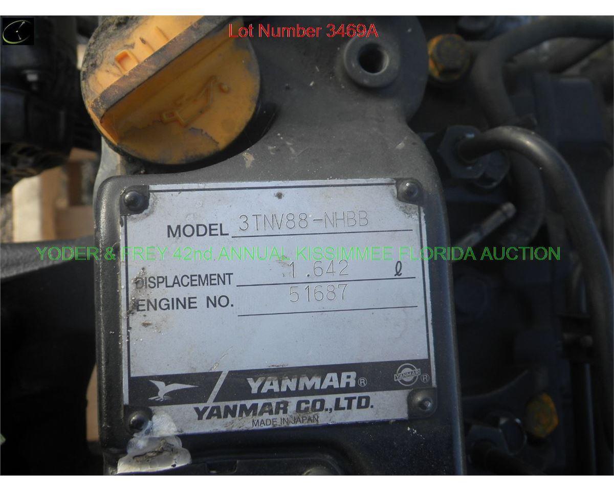 Yanmar 3TNV88-NHBB 3 Cylinder Diesel Engine, Sn  51687