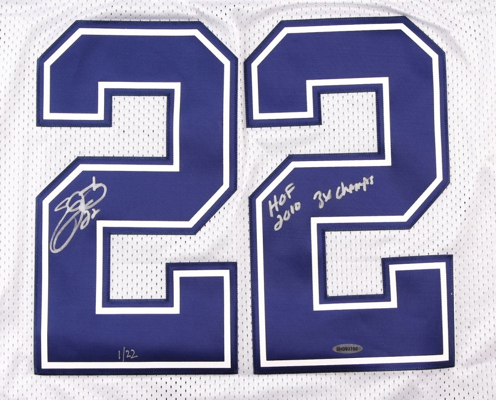 best website b5b8a 6b99d Emmitt Smith Signed Cowboys Authentic Mitchell & Ness ...