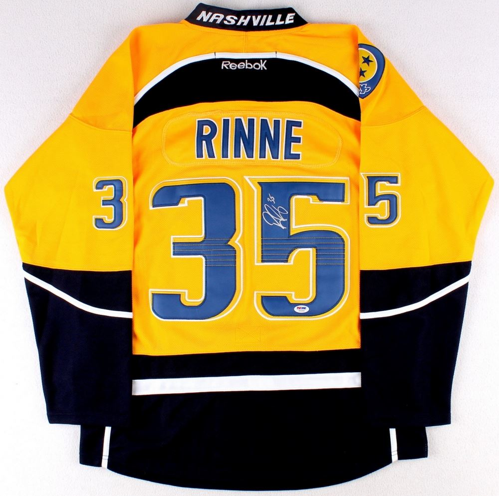 sneakers for cheap 9b8e8 acf91 Pekka Rinne Signed Predators Jersey (PSA COA)