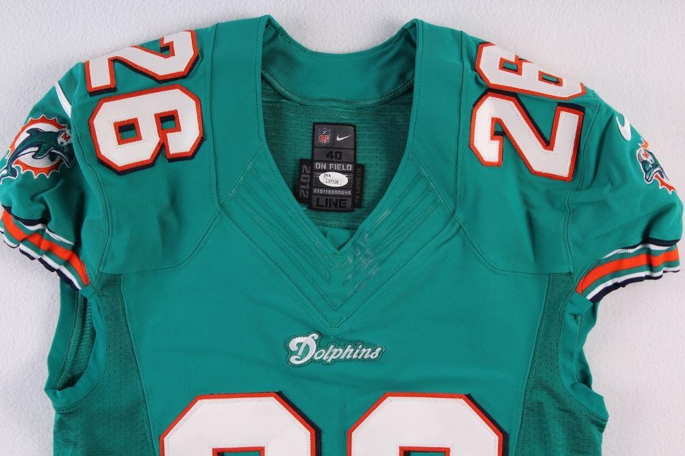 buy online 91641 7de10 Lamar Miller Signed Dolphins Game Issued Jersey Inscribed ...
