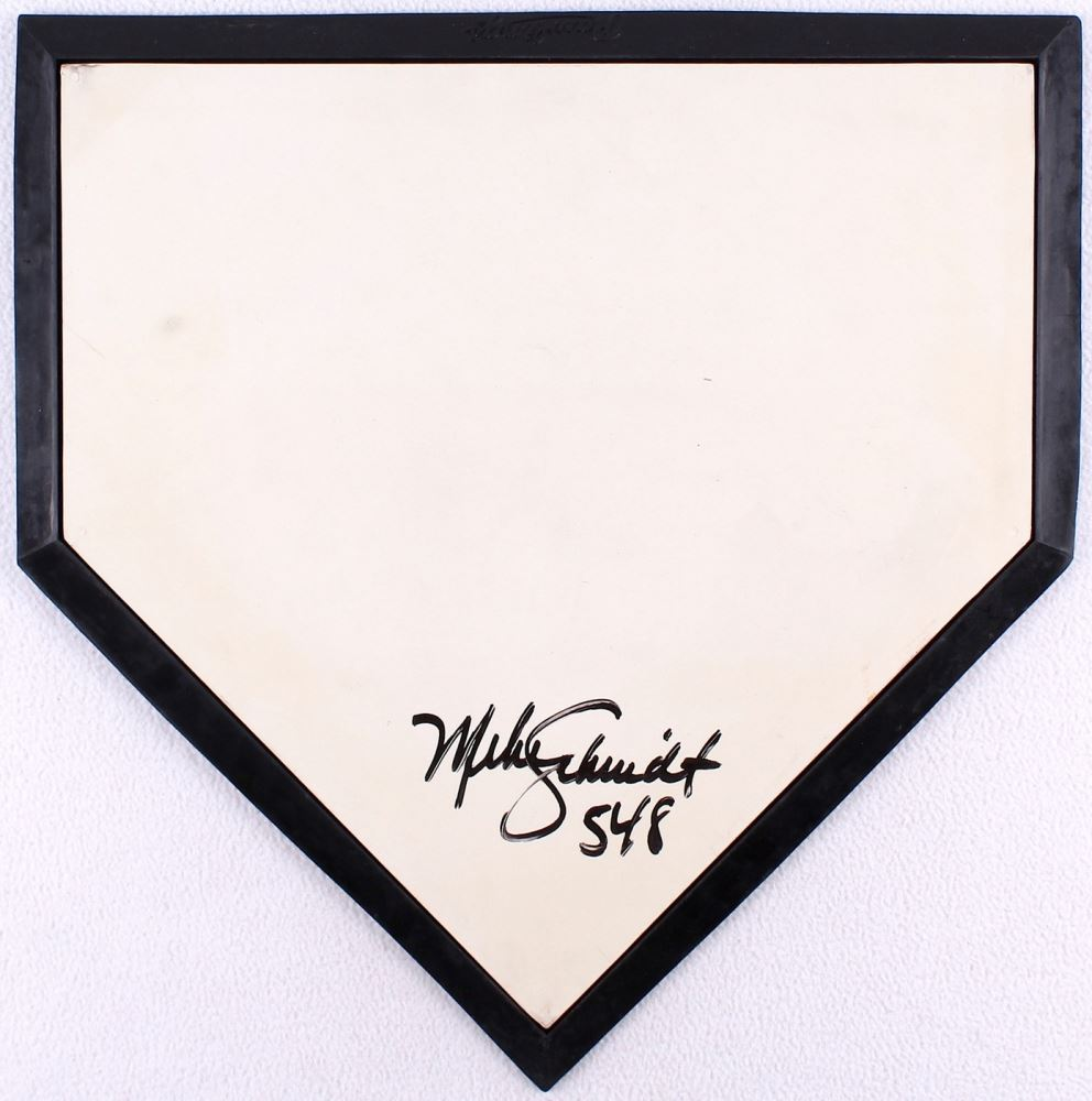 Astonishing Mike Schmidt Signed Home Plate Inscribed 548 Jsa Download Free Architecture Designs Rallybritishbridgeorg