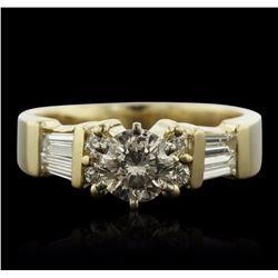 14KT Yellow Gold 1.40 ctw Diamond Ring