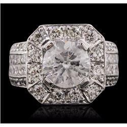 14KT White Gold 5.79 ctw Diamond Ring