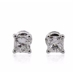 14KT White Gold 1.52 ctw Diamond Solitaire Earrings