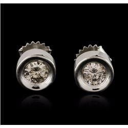 14KT White Gold 0.80 ctw Diamond Stud Earrings