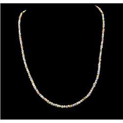 14KT White Gold 33.56 ctw Rough Diamond Necklace