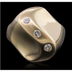14KT Yellow Gold 0.05 ctw Diamond Ring