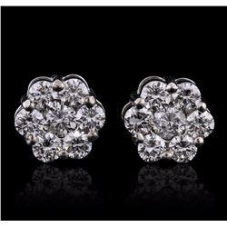 14KT White Gold 1.65 ctw Diamond Earrings