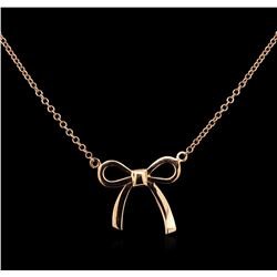 14KT Rose Gold Bow Necklace