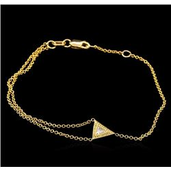 0.15 ctw Diamond Bracelet - 14KT Yellow Gold