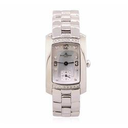 Baume Mercier Stainless Steel Diamond Mercler Hampton Watch