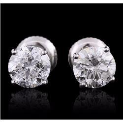 14KT White Gold 1.82 ctw Diamond Earrings