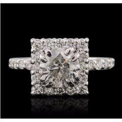 14KT White Gold 2.43 ctw Diamond Ring