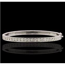 14KT White God 1.31 ctw Diamond Bracelet