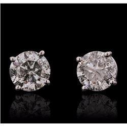 14KT White Gold 1.35 ctw Diamond Solitaire Earrings