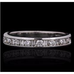 14KT White Gold 0.39 ctw Diamond Ring