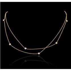 14KT Yellow Gold 0.30 ctw Diamond Necklace