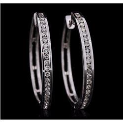 14KT White Gold 0.94 ctw Diamond Earrings