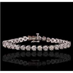 14KT White Gold 11.40 ctw Diamond Tennis Bracelet