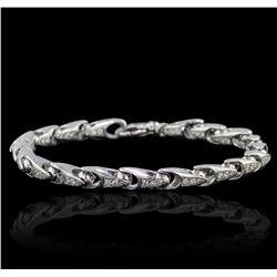 14KT White Gold 1.01 ctw Diamond Bracelet