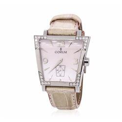 Stainless Steel 0.85 ctw Diamond Corum Trapeze Watch