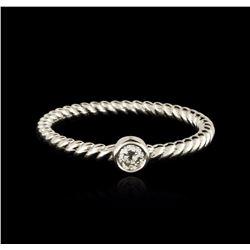 14KT White Gold 0.09 ctw Diamond Ring