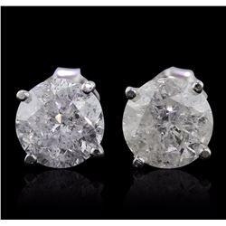 14KT White Gold 3.00 ctw Diamond Stud Earrings