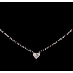 0.27 ctw Diamond Necklace - 14KT White Gold