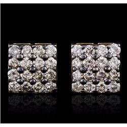 14KT Yellow Gold 1.57 ctw Diamond Earrings