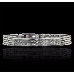 18KT White Gold 2.50 ctw Diamond Bracelet