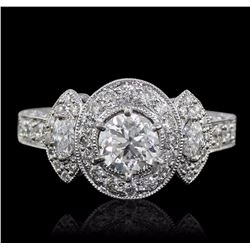 18KT White Gold GIA Certified 2.01 ctw Diamond Ring