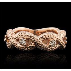 14KT Rose Gold 0.25 ctw Diamond Ring