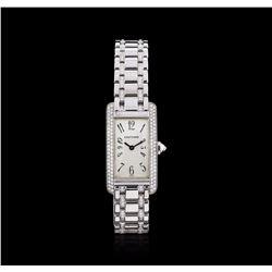 Cartier 18KT White Gold 2.00 ctw Diamond Tank Americaine Ladies Watch