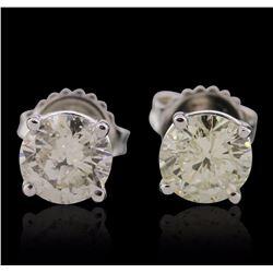 14KT White Gold 1.87 ctw Diamond Stud Earrings