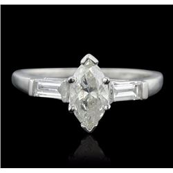 Platinum 1.39 ctw Marquise Cut Diamond Ring
